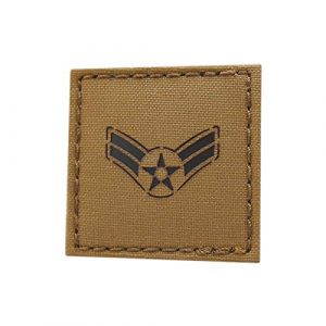 Tactical Freaky  1 Coyote IR 2x2 USAF E-3 Airman First Class A1C Rank US Air Forces Tactical Fastener Patch