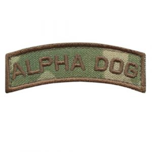 LEGEEON  1 LEGEEON Alpha Dog Shoulder Tab Multicam OCP US Army Military Morale Tactical Fastener Patch