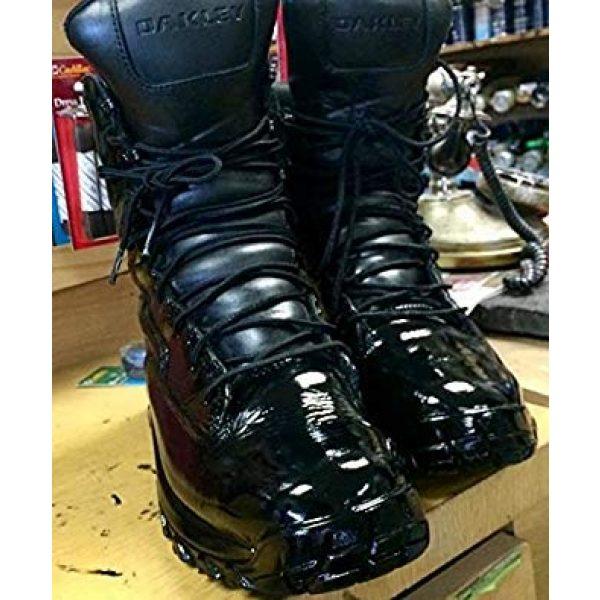Leather Luster Combat Boot Polish 3 Hi Gloss Brilliant Patent Leather Finish 4 Ounce - Black