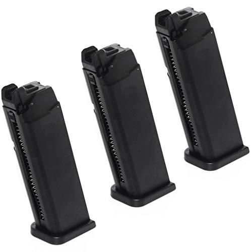Generica  1 Generica Airsoft Spare Parts Army 3pcs 25rd Mag Magazine for Army R17 / Tokyo Marui G17 GBB Pistol Black