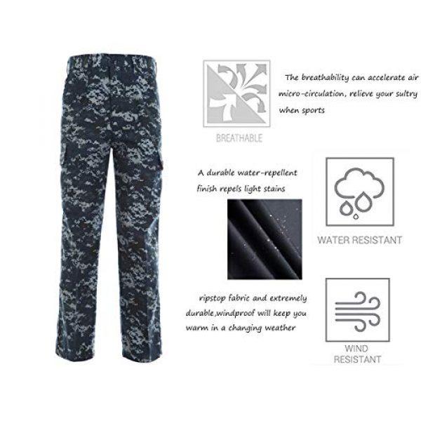 LANBAOSI Tactical Pant 5 Men's Airsoft Pants Multicam Tactical Military Camo Hunting Combat Cargo Uniform Pants