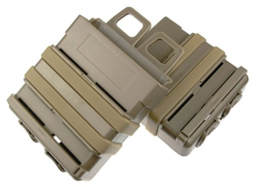 ATAIRSOFT  3 ATAIRSOFT Airsoft Fast Mag Magazine Pouch Holder Pouch Set 7.62 Molle System
