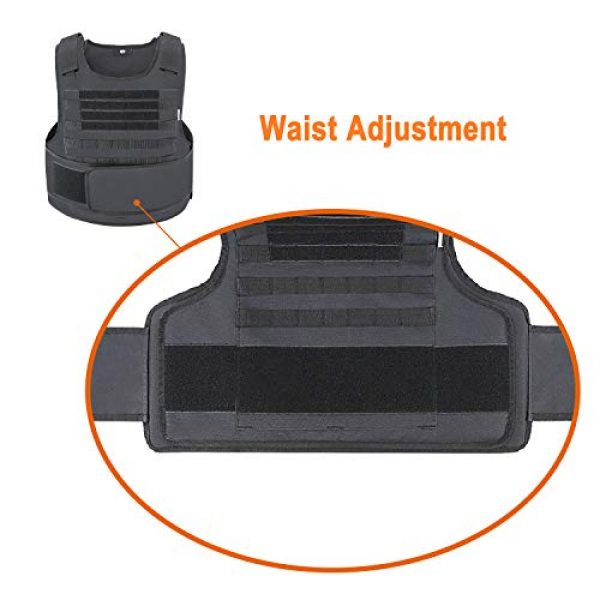 MGFLASHFORCE Airsoft Tactical Vest 5 MGFLASHFORCE Tactical Airsoft Vest Molle Adjustable Combat Training Paintball Vest