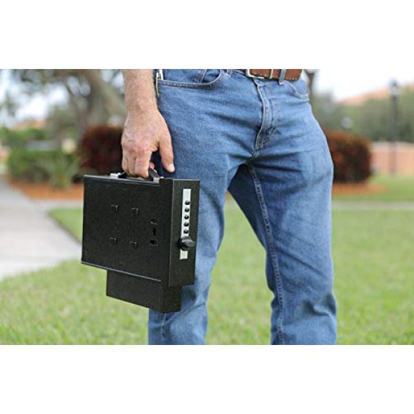 Titan Security Pistol Case 4 Titan Gun Safe Fail-Safe Mechanical Lock Fast Rugged Handgun Safe with Auto Delivery Holster & Two Quick Release Brackets