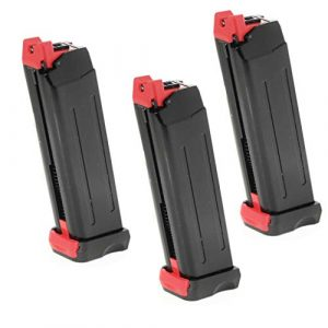 Airsoft Gang Air Gun Magazine 1 Airsoft Parts APS 3pcs 18rd CO2 Magazine for APS Steel Shark .177 Cal 4.5mm BB Black