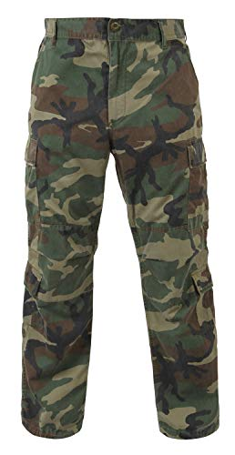 Rothco Tactical BDU Pant 1 Vintage Paratrooper Fatigues - Woodland Camo - X-Large (39-43)