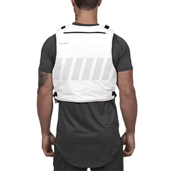 Armiya Airsoft Tactical Vest 6 Mens Molle Tactical Military Chest Rig Law Enforcement Work Reflective Vest Combat Condor Security Training Tool Pouch for Outdoor Paintball CS Game Airsoft Climbing Hiking (White)