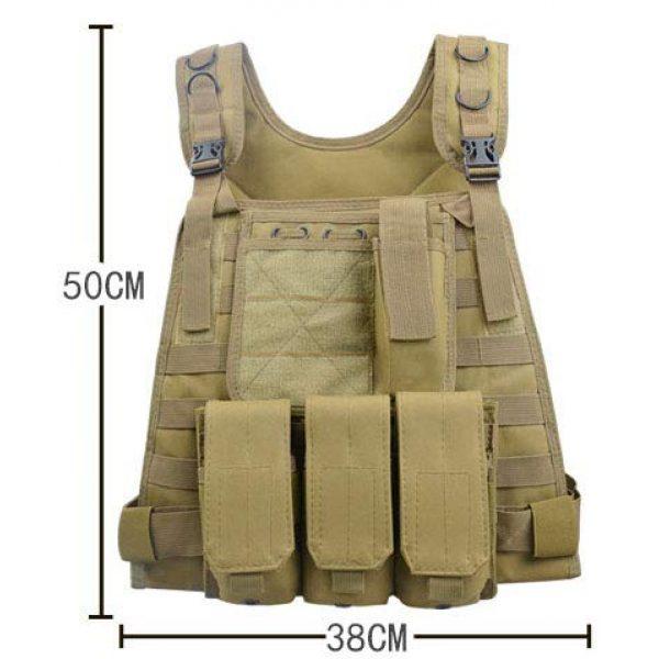 HHFC Airsoft Tactical Vest 5 HHFC Outdoor Nylon Tactical Vest Security Guard Waistcoat Field Combat Training Protective Vest Tactical Molle Airsoft Vest Paintball Combat Soft Vest