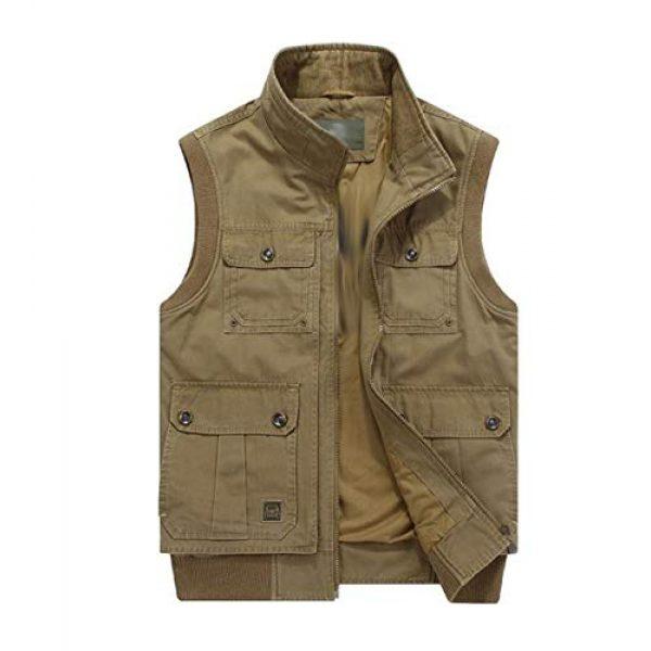 DAFREW Airsoft Tactical Vest 1 DAFREW Men's Vest Vest Casual Cotton Vest Men's Outdoor Travel Vest (Color : Khaki, Size : XL)