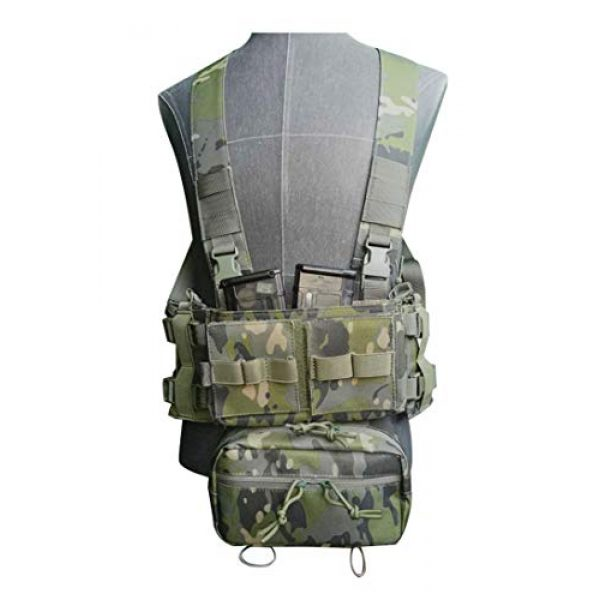 Lindsays Airsoft Tactical Vest 3 Lindsays Outdoor Tactical Vest with Multi-Pockets Multifunctional Sports Waterproof Nylon Camouflage Vest Used for Training Cycling, Hiking and Camping