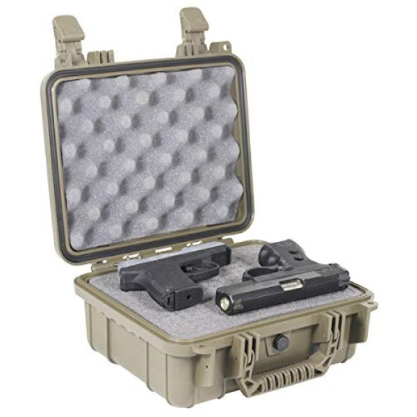 "Condition 1 Pistol Case 1 Condition 1 Premium Dual Pistol Hard Case with Foam, Green | 9"" x 7"" x 4"" 