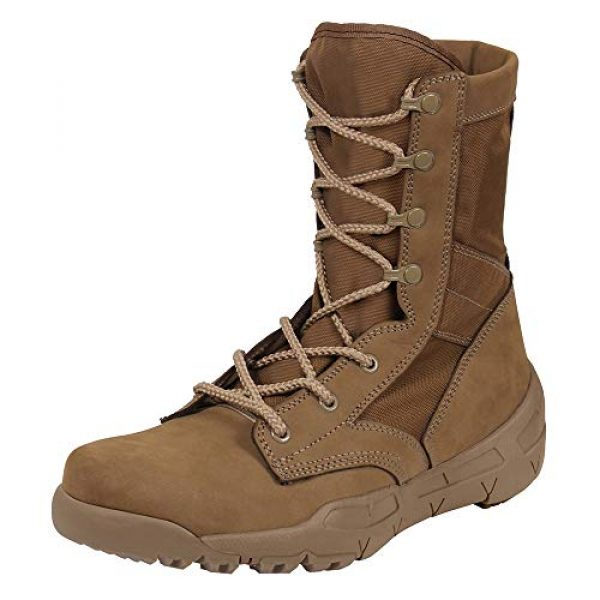 Rothco Combat Boot 1 Waterproof V-Max Lightweight Tactical Boots - AR 670-1 Coyote Brown