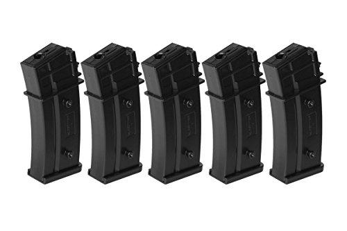 Umarex  1 Umarex H&K G36 140 Round Mid-Cap Airsoft Gun AEG Magazine - Pack of 5