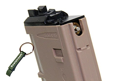 WE  2 WE 30rds Airsoft Gas Magazine MSK/ACR MUSOKEN GBB Tan -Mobile Ring Included