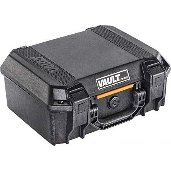 Pelican Pistol Case 1 Vault by Pelican - V200 Pistol Case with Foam (Black)
