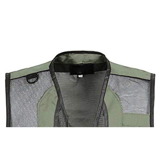 DAFREW Airsoft Tactical Vest 5 DAFREW Men's Vest Quick-Drying mesh Breathable Vest Multi-Pocket Vest Outdoor Leisure Photography Vest (Color : Black2, Size : M)