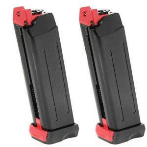 Airsoft Gang Air Gun Magazine 1 Airsoft Parts APS 2pcs 18rd CO2 Magazine for APS Steel Shark .177 Cal 4.5mm BB Black