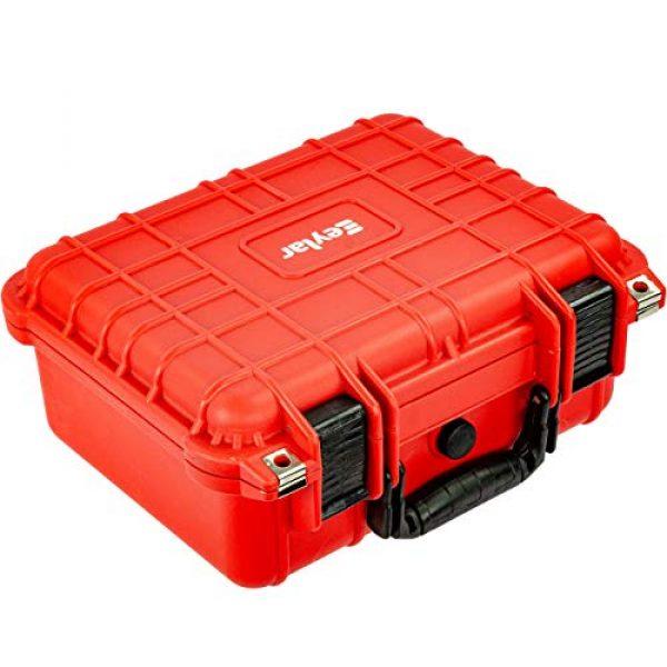 Eylar Pistol Case 4 Eylar Tactical Hard Gun Case Water & Shock Proof with Foam 13.37 inch 11.62 inch 6 inch Red