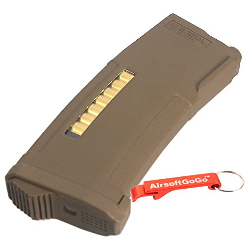 PTS Syndicate  5 PTS EPM 150rd Enhanced Polymer AEG Magazine Black for M4 series AEG Dark Earth [For Airsoft Only]