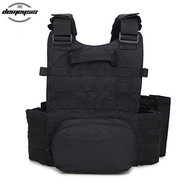 BGJ Airsoft Tactical Vest 7 Tactical Molle Vest Nylon Body Armor Hunting Plate Carrier Airsoft Paintball Vest with Magazine Pouch CS Game Combat Gear