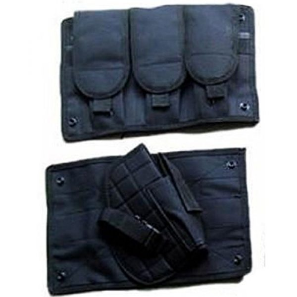 DHLink Airsoft Tactical Vest 4 Tactical Military Hunting Combat Vest with Pistol Gun Holster Pouch Black