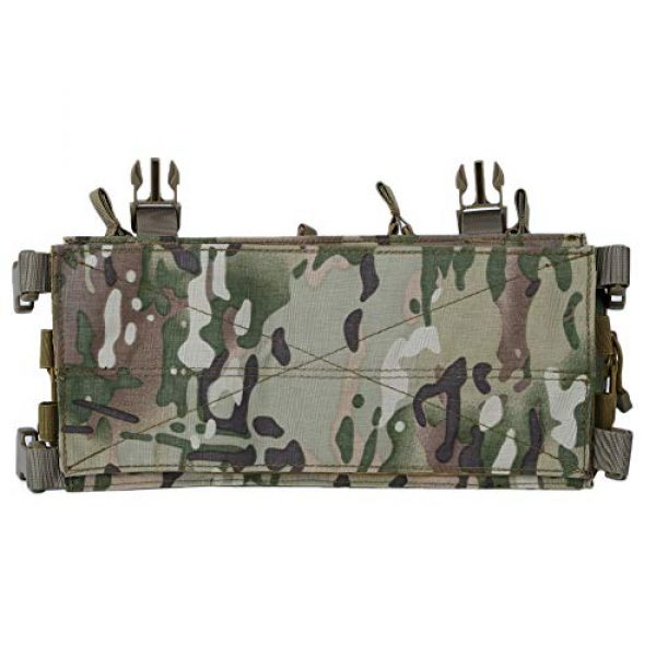 Gocher Airsoft Tactical Vest 6 Lightweight Vest Military Recon Chest Rig with Molle Pocket Detachable Pouches