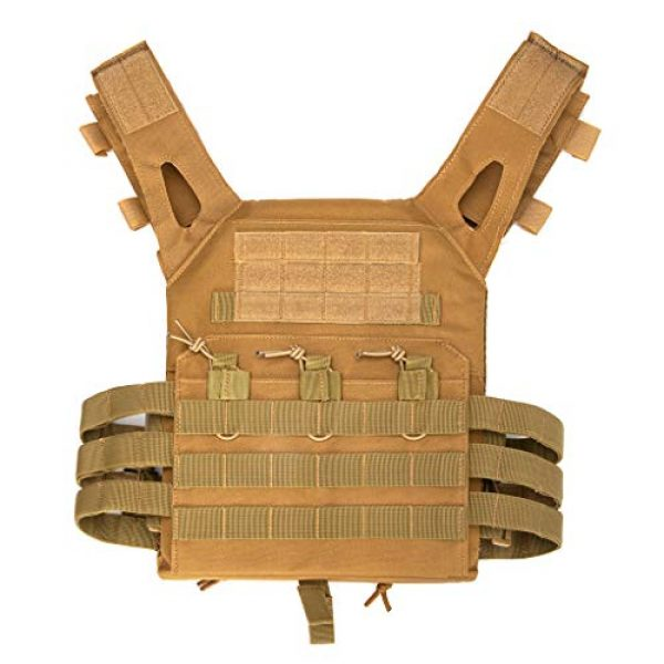 Jipemtra Airsoft Tactical Vest 5 Jipemtra Tactical Airsoft Vest for Kids Outdoor Molle Breathable JPC Vest Game Protective Vest Adjustable Modular Chest Set Vest CS Field Vest Training Vest (Black #1)