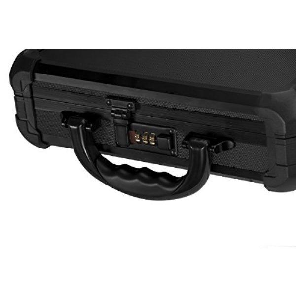 BARSKA Pistol Case 5 Loaded Gear AX-50 Hard Case, Medium, Black by BARSKA