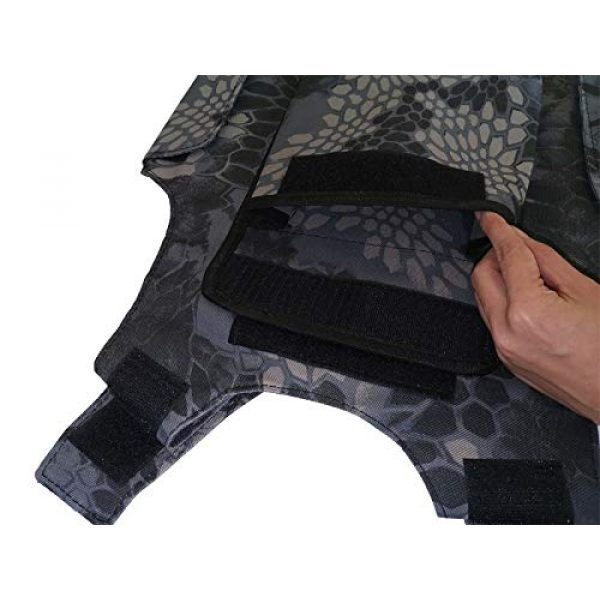 BGJ Airsoft Tactical Vest 6 Outdoor Airsoft Tactical Kids Children Vest Uniform Army Military Equipment Kids Boy Girl Camouflage Combat CS Hunting Clothes