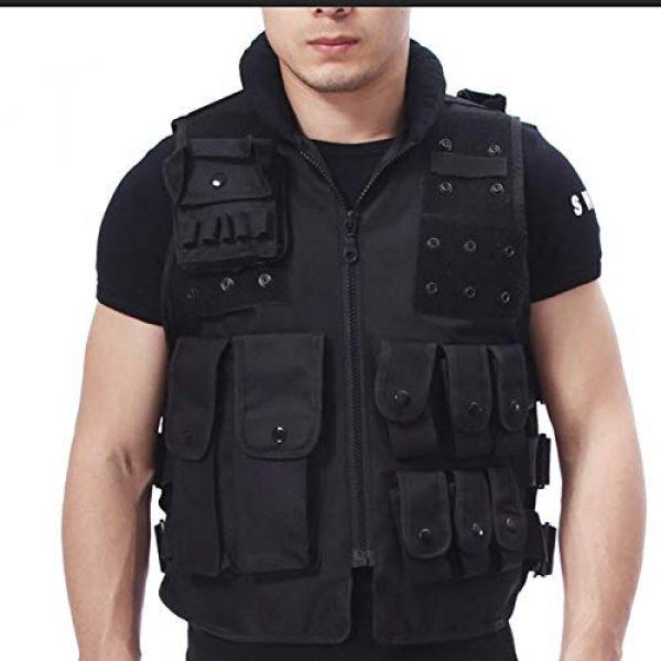 Moontie Airsoft Tactical Vest 1 Moontie Military Tactical Vest, Paintball Camouflage Molle Hunting Vest Assault Shooting Hunting Security Waistcoat