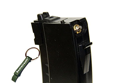WE  2 WE 30rds Airsoft Gas Magazine For WE AK74 74UN Series GBB Black -Mobile Ring Included
