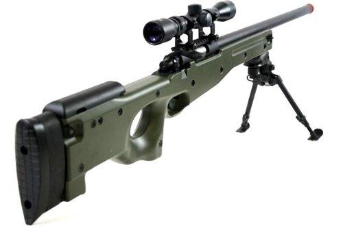 BBTac  3 BBTac BT-96 Bolt Action Sniper Rifle w/ 3-9x Scope and Bipod - OD GREEN