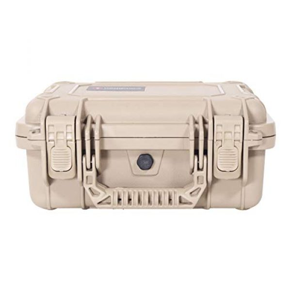 """Condition 1 Pistol Case 4 Condition 1 Premium Dual Pistol Hard Case with Foam, Tan   9"""" x 7"""" x 4""""   Waterproof Case for Handgun and Mags   Pick and Pluck Foam   TSA Ready"""
