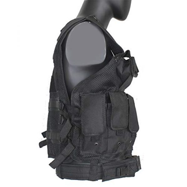 Yoghourds Airsoft Tactical Vest 5 Yoghourds Adjustable Breathable Vest, Ultra-Light Tactical Vest for Men for Hunting/Fishing/CS Field Operations/Cosplay