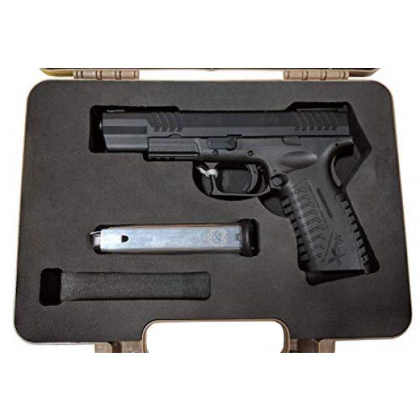 Cedar Mill Fine Firearms Pistol Case 4 Custom EVA Pistol Foam - 1911 Colt Beretta 90 CZ 75 SHADOW 1 and 2 9mm Canik SFX / SA FNH FNS Grand Power Excalibur H&K USP Magnum Research MR9 Ruger American SR11 Smith&Wesson SIG SAUER