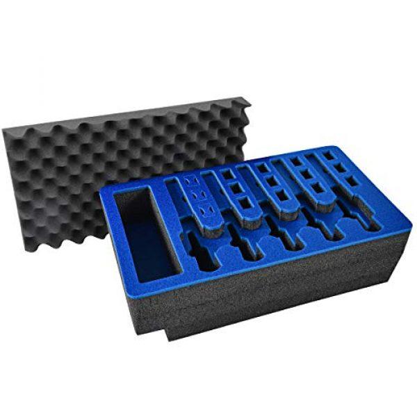 MY CASE BUILDER Pistol Case 1 Pistol & Magazine Storage Foam Insert for Apache 5800 Case -2 Piece Set Pre-Cut Military Grade Polyethylene Foam Base Insert and Lid Liner (Case Not Included)