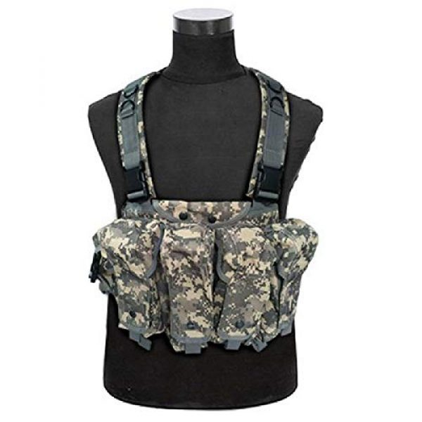 BGJ Airsoft Tactical Vest 3 BGJ Outdoor AK 47 Magazine Carrier Combat Vest Military Camouflage Tactical Vest Airsoft Ammo Chest Rig Hunting Gear