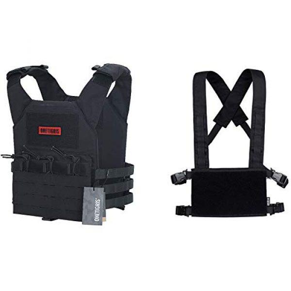 OneTigris Airsoft Tactical Vest 1 OneTigris Black Tactical Vest & Chest Rig Set