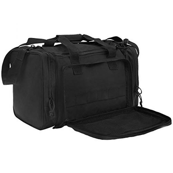 GUAWIN Pistol Case 1 Range Bag Tactical Bag Gun Bag for Handguns Pistol Durable Water Resistant Tactical Duffle Bag with Magazine Gear Accessories Pouch Suitable for Shooting Range, Hunting, Storage and Transport