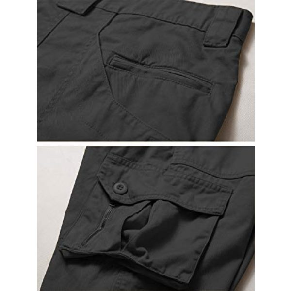 AKARMY Tactical Pant 5 Men's Lightweight Cotton Casual Work Pants,Relaxed Fit Tactical Army Ripstop Cargo Pants with 11 Pockets