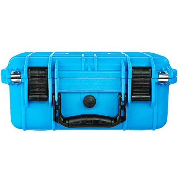 Eylar Pistol Case 7 Eylar Tactical Hard Gun Case Water & Shock Proof with Foam 13.37 inch 11.62 inch 6 inch Light Blue