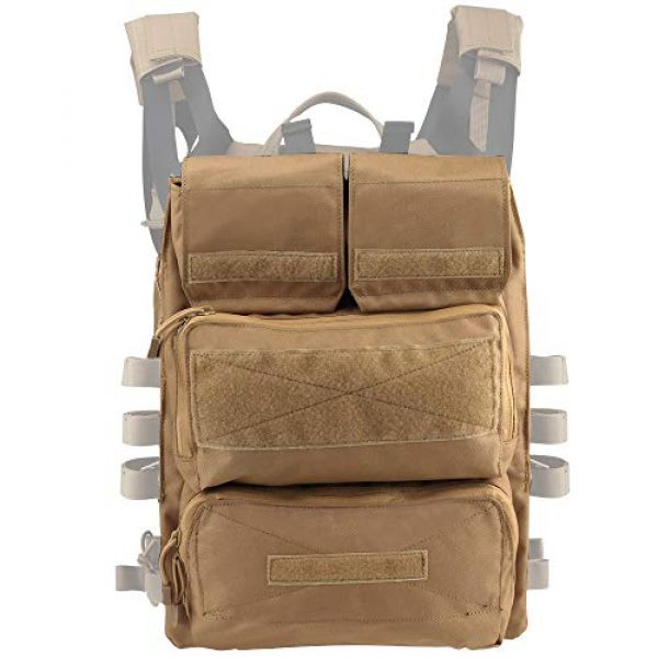 DETECH Airsoft Tactical Vest 5 DETECH Tactical JPC MOLLE Vest with Backpack Expand Bag for Airsoft Paintball Hunting