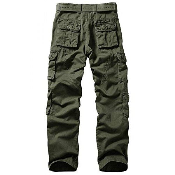 TRGPSG Tactical Pant 2 Men's Outdoor Hiking Pants Multi-Pocket Military Tactical Work Cargo Pants Casual Relaxed Fit Trousers