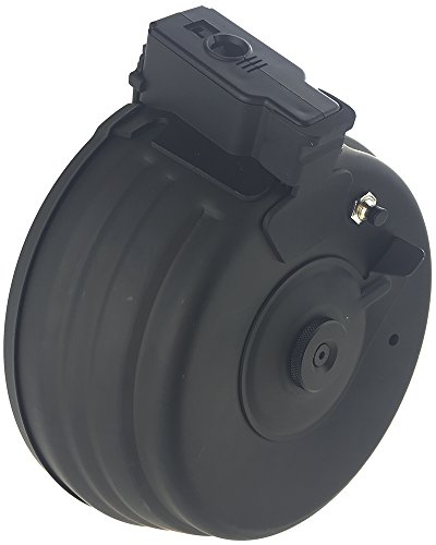 SportPro  2 SportPro CYMA 2500 Round Metal Electric Drum Magazine for AEG AK47 AK74 Airsoft - Black