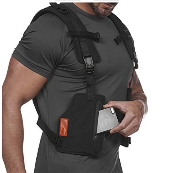 Armiya Airsoft Tactical Vest 5 Mens Molle Tactical Military Chest Rig Law Enforcement Work Reflective Vest Combat Condor Security Training Tool Pouch for Outdoor Paintball CS Game Airsoft Climbing Hiking (Black)