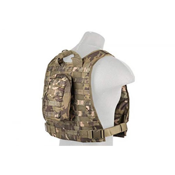 Lancer Tactical Airsoft Tactical Vest 2 Lancer Tactical Ballistic 600D Poly Combat Training Tactical Vest Camo Tropic Adjustable Lightweight