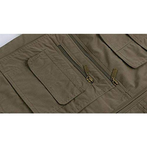 DAFREW Airsoft Tactical Vest 6 DAFREW Men's Vest Spring and Autumn Outdoor Vest Fishing Vest Cotton Custom Multi-Pocket Vest (Color : Deep Khaki, Size : L)
