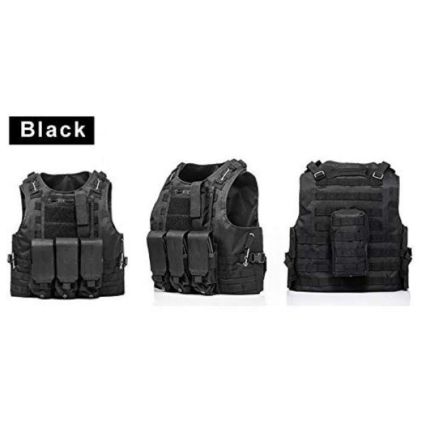BGJ Airsoft Tactical Vest 2 BGJ Tactical Vest Airsoft Military Tactical Vest Molle Combat Attack Onboard Tactical Vest CS Outdoor Clothing Hunter Tactical Vest