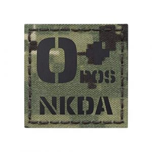 Tactical Freaky  1 AOR2 IR OPOS NKDA O+ Blood Type 2x2 NWU Type III Tactical Morale Hook&Loop Patch