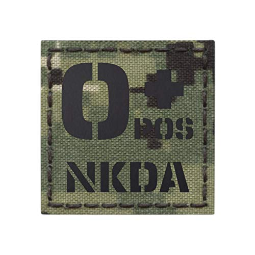 Tactical Freaky Airsoft Morale Patch 1 AOR2 IR OPOS NKDA O+ Blood Type 2x2 NWU Type III Tactical Morale Hook&Loop Patch